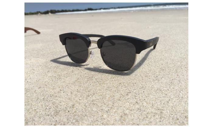Bamboo Wood Hybrid Sunglasses Unisex Wayfarer Boomaster