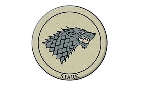 "Dark Horse Deluxe Game of Thrones 3"" Embroidered Patch Stark 451a32bf-7c89-4044-a03e-c6a734f046f8"