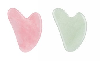 Gua Sha Facial Tools Natural Jade Rose Quartz Guasha Board