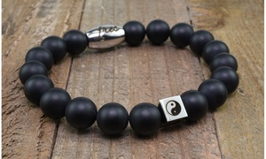 Men's Beaded Stone Bracelets for Luck, Good Fortune and Protection
