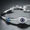 Crystal Evil Eye Bracelet Made with Swarovski Elements by Barzel