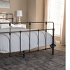 Ginette Antique Black Metal Platform Bed