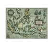 'Map of the East Indies 1635' Canvas Art