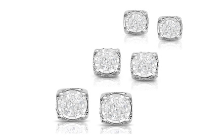 1/4, 1/2 or 1 Cttw Diamond Stud Earring with Heart in 10KWG bdfcfdb7-c5c2-4189-a9f0-2f6301318d0b