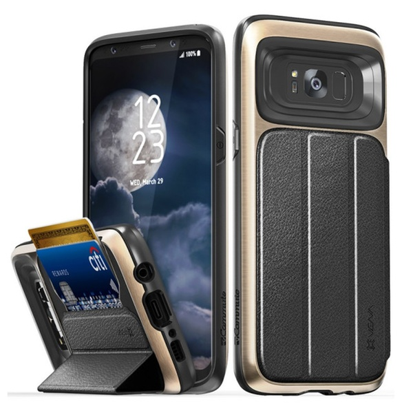 differently 6c52a f4a16 Vena Card Holder Wallet Case for Galaxy S8 / S8 Plus / S7 or S7 Edge