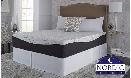 Nordic Nights Gel Memory Foam Mattress with Cool Touch Cover