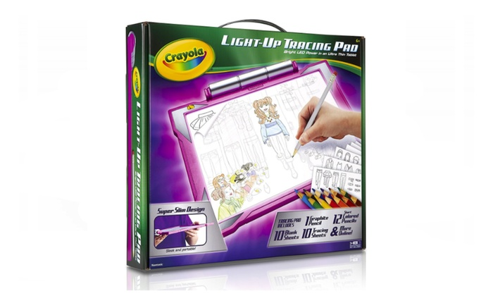 Crayola Light-up Tracing Pad - Pink, Coloring Board for Kids | Groupon