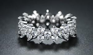 Women's Cubic Zirconia Eternity Band Ring by Barzel