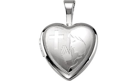 Sterling Silver Prayer Locket 9939ead1-11dc-4b55-b673-a5e6d03e159a