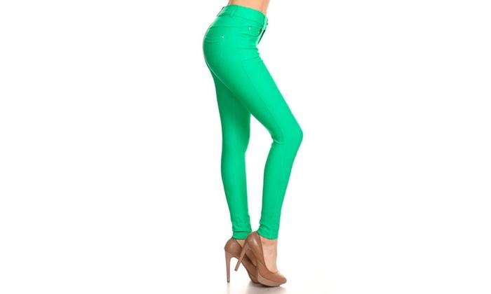 Women's Solid Color Jeggings K