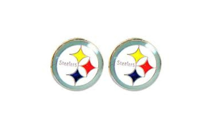 Pittsburgh Steelers Post Stud Logo Earring Set Charm Gift