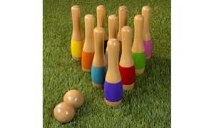 Lawn Bowling, Wooden Lawn Game, Indoor & Outdoor Toy, Adults & Kids