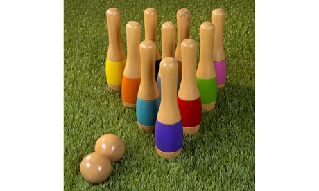 Lawn Bowling, Wooden Lawn Game, Indoor & Outdoor Toy, Adults & Kids fa0ae738-5ce3-4416-8466-3760adab253a