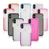 Clear Translucent Soft Fit Bumper Case Protective Cover for iPhone X