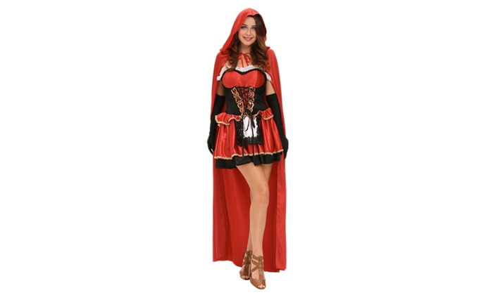 Women's Three-piece Fairy Tale Little Red Costume