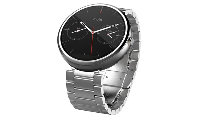 Motorola Moto 360 Smartwatch Light Finish, Light Stainless ...