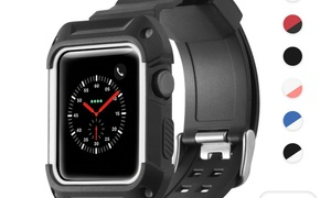 a55dfdb105a3c Zodaca Rugged Protective Band Replace Strap For 42mm iWatch Series 1 2 3