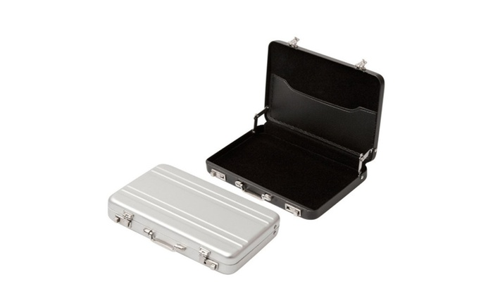 save off 69c3e bcce6 Mini Briefcase Business Card Holder Case | Groupon