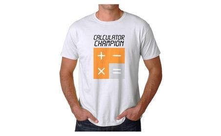 Calculator Champion Men's White T-shirt NEW Sizes S-2XL 82be64a3-e0fd-482b-8184-3922e4b4242d