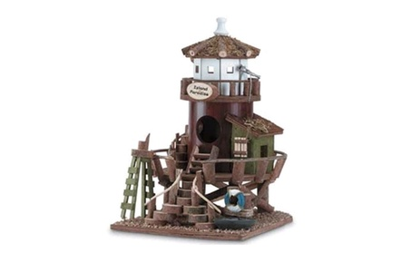 Decorative Wood Island Paradise Bird House (Goods Outdoor Décor Bird Feeders & Baths) photo