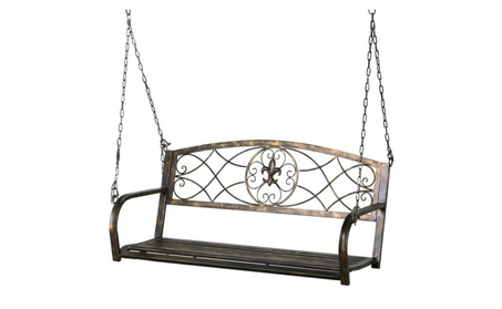 Iron Porch Swing Hanging Bench Chair Outdoor Funiture 7c18848b-67ea-49c4-9cc9-7f912ee574d5