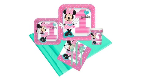 Disney Minnie Mouse 1st Birthday 24 Guest Party Pack 7af76a1d-05aa-40d6-95d9-a918cd9530fd
