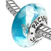 Sterling Silver 'Rockin' the Boat' Murano-style Glass Bead