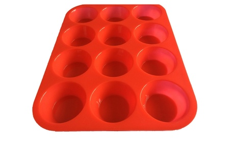 Keliwa 12 Cup Silicone Muffin Cupcake Baking Pan 009c33dc-485c-4dde-8ddb-252a5c176dd6