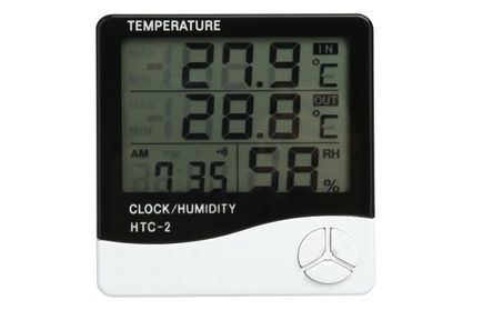 Humidity Meter Clock Weather Station Household Thermometer
