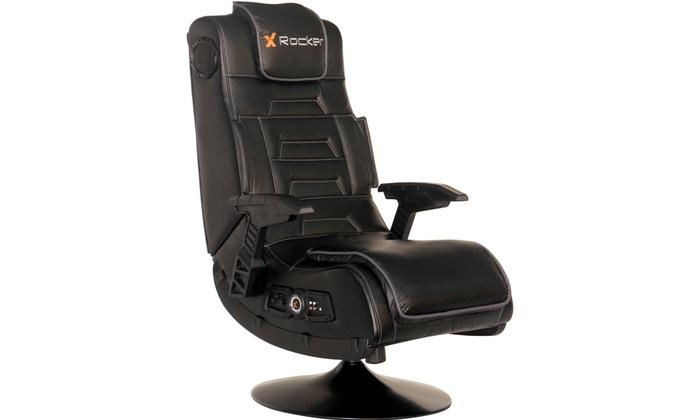 Fine X Rocker Pro Series Pedestal Wireless 2 1 Gaming Chair Rocker Black Pabps2019 Chair Design Images Pabps2019Com