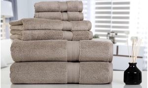 Aerosoft Zero-Twist 610GSM 100% Cotton Bath Towel Set (6-Piece)