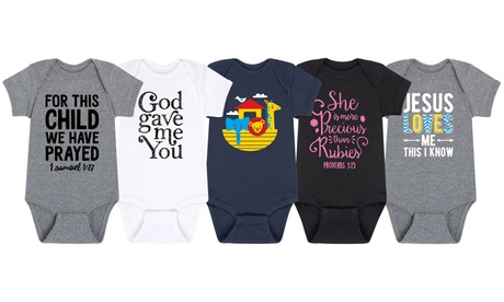 Solid Light: Infant Christian Body Suits