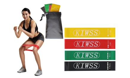 KIWSS Exercise Resistance Loop Bands Workout Yoga Training Fitness Gym Bands