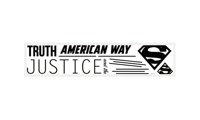 TRUTH JUSTICE AND THE AMERICAN WAY wall stickers 10 decals logos SUPERMAN QUOTE