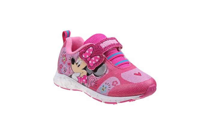 Disney Minnie Mouse Girls Light Up Sneakers  d2357569d5b