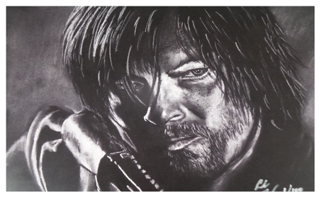 Norman Reedus Daryl Dixon The Walking Dead Limited Edition Lithograph 48ac1c35-b2d5-495d-8cb2-e5345c4b458a