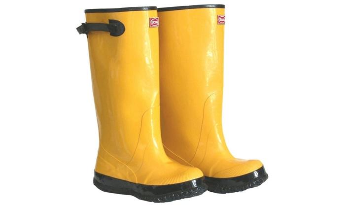 "Boss Gloves 2KP448111 Size 11 Mens 17"" Tall Yellow Rubber Boots"