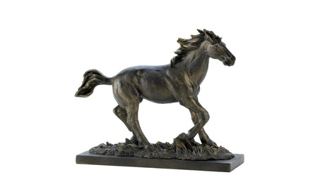 Wild Western Stallion Horse Statue Bronze Colored 5450a385-fcd0-4b5c-85d0-6ddcf760c2f2