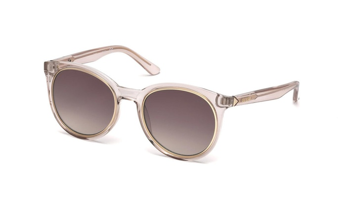 Guess GU7466 57F Pink Gold Frame / Brown Gradient Lenses