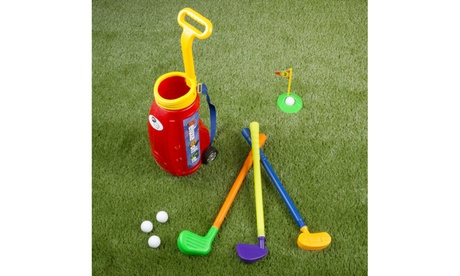 Toddler Toy Golf Play Set with Plastic Bag, 2 Clubs, 1 Putter, 4 Balls ad903ce9-f8e4-464c-a7b8-f12c0b5ee665