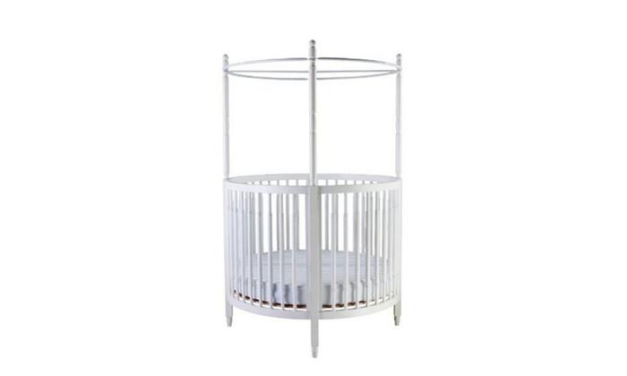 Sophia Posh Circular Crib White Groupon