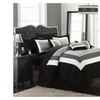 Chic Home Cs1454-Us Duke Pieced Color Block Bed In A Bag Comforter Set