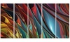 Leaves of Color Metal Wall Art 60x28 5 Panels
