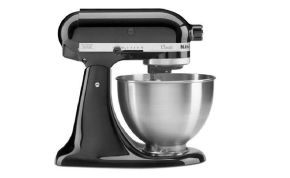 KitchenAid Classic Series 4.5 Quart Tilt-Head Stand Mixer, Onyx Black