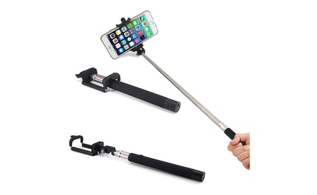 Selfie Stick Bluetooth W/ Remote Button and Adjustable Phone Clamp d82bbedf-fa3b-4471-a255-c402cd3f6812