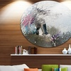 Guy on a Wakeboard' Disc Landscape Circle Metal Wall Art