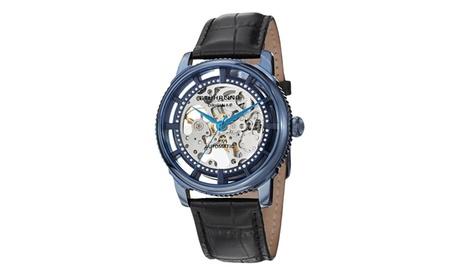Stuhrling Original Men's Automatic Skeletonized Genuine Leather Strap Watch 34840cf2-fa51-4181-8513-3b0b2576c00b