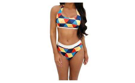 Sexy women swimsuit push up swimwear bikini set Geometric Padded Bra 0b02e9e5-a68f-4674-8701-23df00bb1e9f