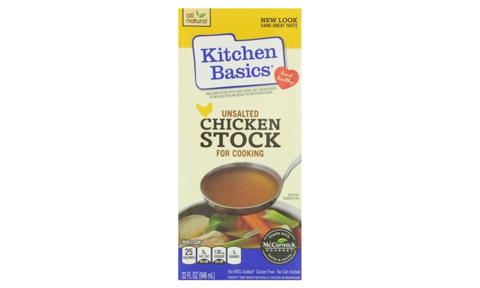 Kitchen Basics No Salt Chicken Stock For Cooking 32 Oz Pack Of 12