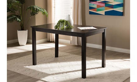 Loralle Modern and Contemporary Dark Brown Finished Dining Table